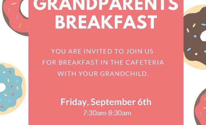 Grandparent's Breakfast Flyer